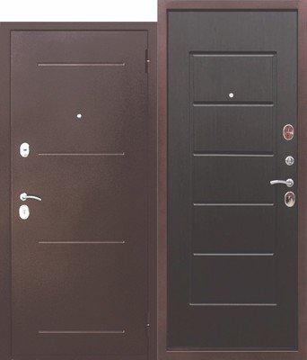 Дверь входная 7,5 см Гарда медный антик Венге