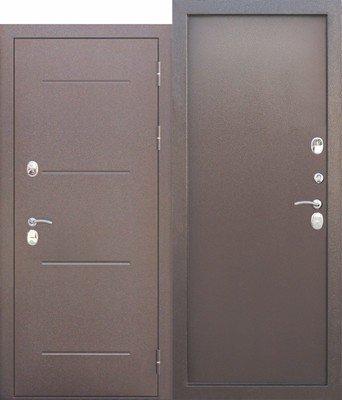 Дверь входная 11 см ISOTERMA медный антик металл/металл