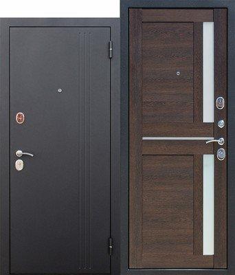 Дверь входная 7,5 см Нью-Йорк Каштан Мускат Царга