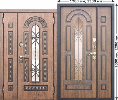 Дверь входная Vikont 1300х2050
