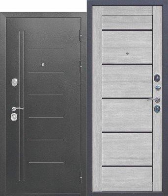 Дверь входная 10 см Троя Серебро Дымчатый дуб Царга