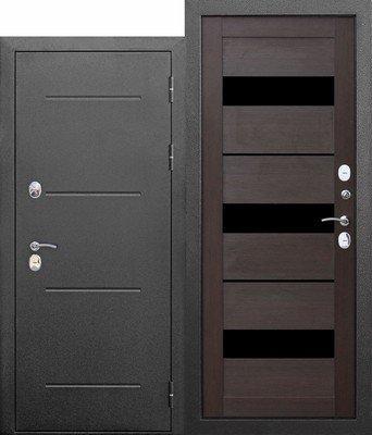 Дверь входная 11 см ISOTERMA Серебро Темный Кипарис Царга