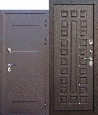 Дверь входная 11 см ISOTERMA медный антик Венге