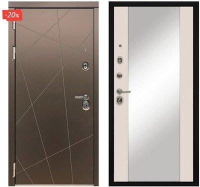 Дверь входная МД-50 - Софт Шампань   (Зеркало)