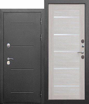 Дверь входная 11 см ISOTERMA Серебро Лиственница беж Царга