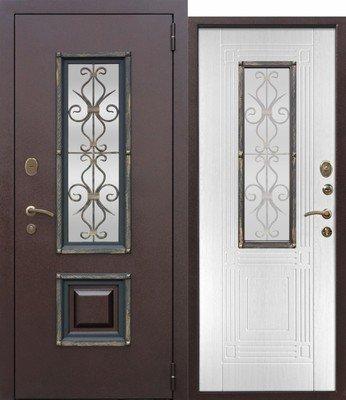 Дверь входная Венеция Белый ясень
