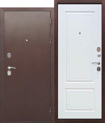 Дверь входная 10 см Толстяк РФ медный антик Белый ясень