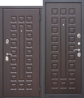 Дверь входная 10 см Монарх Венге