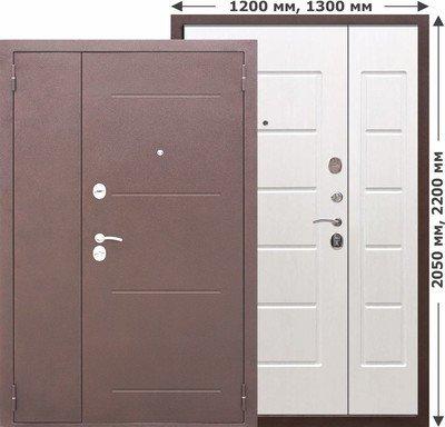 Дверь входная 7,5 см Гарда Белый Ясень 1200*2050