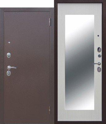 Дверь входная Царское зеркало MAXI Белый ясень