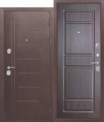 Дверь входная 10 см Троя медный антик Венге