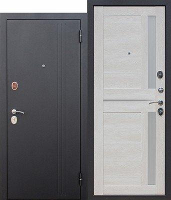 Дверь входная 7,5 см Нью-Йорк Каштан перламутр Царга