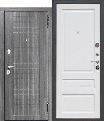 Дверь входная 10,5 см Гарда мдф/мдф Грей/Белый матовый Царга