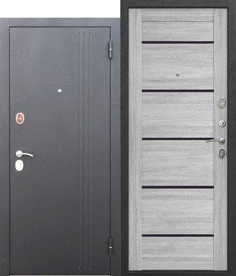 Дверь входная 7,5 см Нью-Йорк Ривьера пепельная Царга