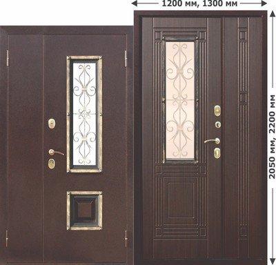 Дверь входная Венеция Венге 1300х2050