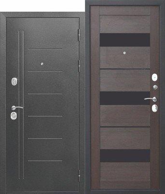 Дверь входная 10 см Троя Серебро Темный Кипарис Царга