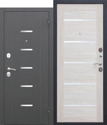 Дверь входная 7,5 см Гарда муар Лиственница беж Царга