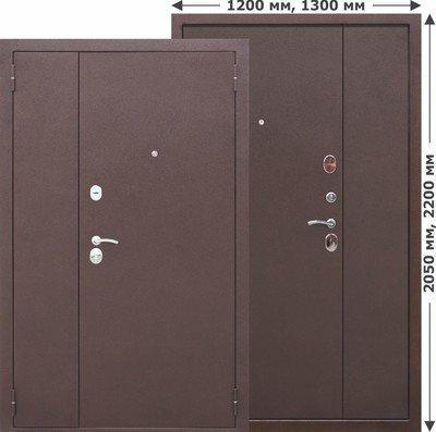 Дверь входная Гарда металл/металл 1300х2050