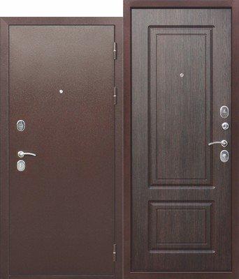 Дверь входная 10 см Толстяк РФ медный антик Венге