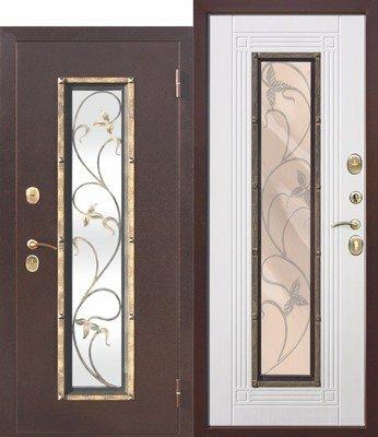 Дверь входная Плющ Белый ясень