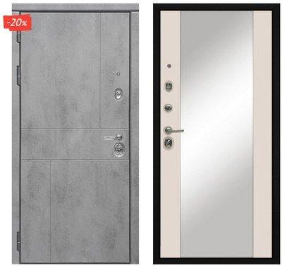 Дверь входная МД-48 - Софт Шампань   (Зеркало)