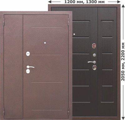 Дверь входная 7,5 см Гарда Венге 1200*2050