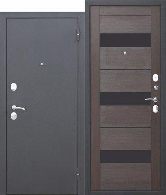 Дверь входная 7,5 см Гарда муар Темный Кипарис Царга