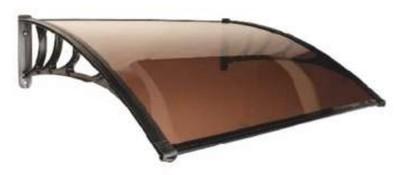 Козырек конструктор ТП-1000х1200 коричневый