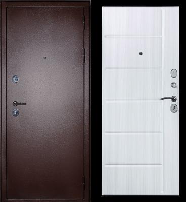 Дверь входная С-503 Сандал белый