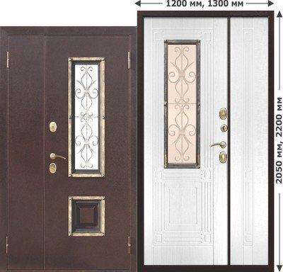 Дверь входная Венеция Белый ясень 1300х2050