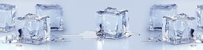 Фартук для кухни «Белый лед»