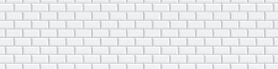 Фартук для кухни «Белая классическая плитка»