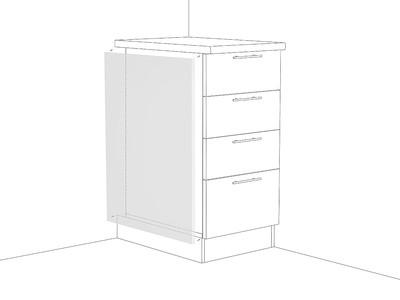 Фасад боковой для нижнего шкафа ФТ 716 Белый
