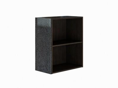 Фасад боковой Валерия-М для верхнего шкафа Черный металлик