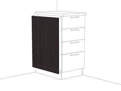 Фасад боковой для нижнего шкафа ФТ 716 Венге